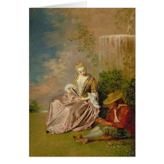 The Shy Lover, 1718 Card