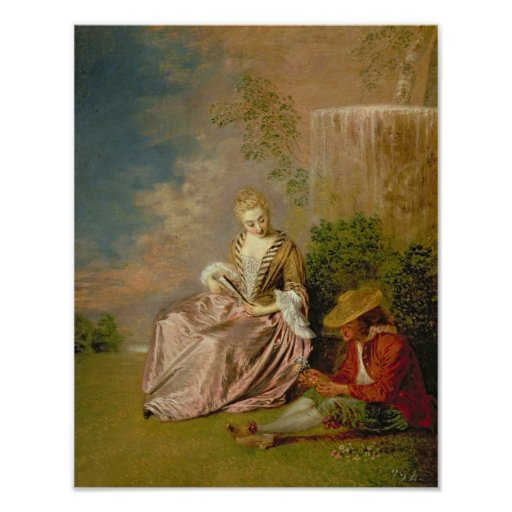 The Shy Lover, 1718 Poster