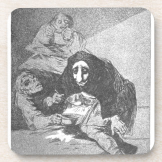 The shy man by Francisco Goya Drink Coaster
