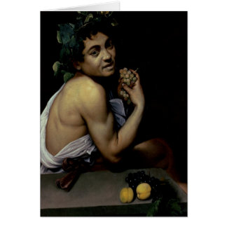 The Sick Bacchus, 1591 Card