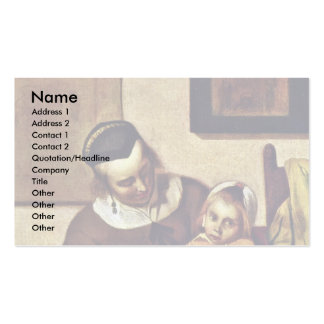 The Sick Child By Metsu Gabriel Business Cards