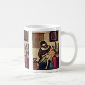 The Sick Child By Metsu Gabriel Coffee Mugs