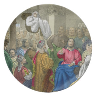 The Sick of the Palsy Brought to Christ by his Fri Dinner Plate
