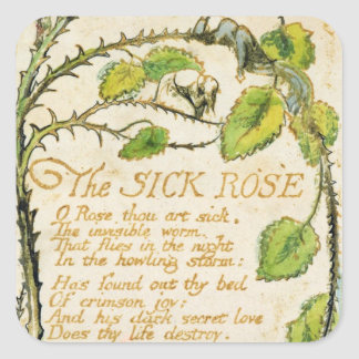 The Sick Rose, from Songs of Innocence Square Sticker