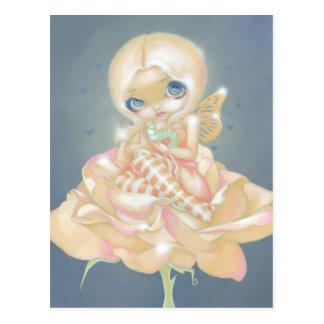 """The Sick Rose"" Postcard"