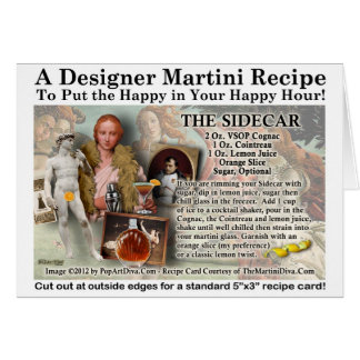 The Sidecar Cocktail Recipe Greeting Card