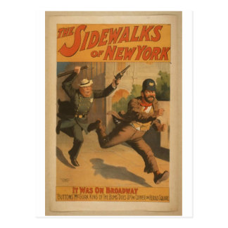 The Sidewalks of New York, 'It was on Broadway' Postcard