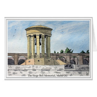 The Siege Bell Memorial, Valletta, Malta GC Card