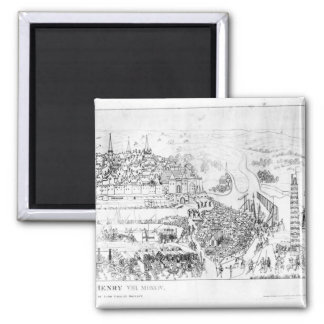 The Siege of Boulogne by King Henry VIII 2 Inch Square Magnet