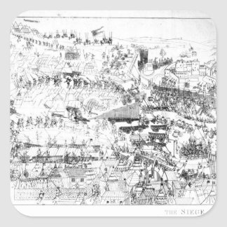 The Siege of Boulogne by King Henry VIII Square Sticker