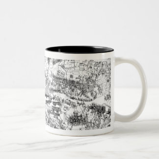 The Siege of Boulogne by King Henry VIII Two-Tone Coffee Mug