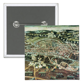 The Siege of Chartres in 1568 2 Inch Square Button