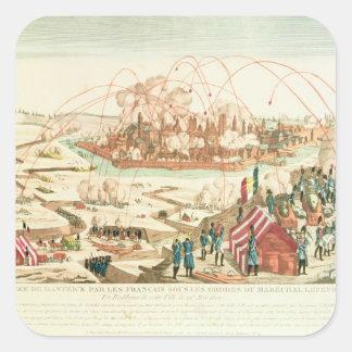 The Siege of Danzig Square Sticker