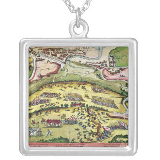 The Siege of Dieppe in 1589, 1589-92 Silver Plated Necklace