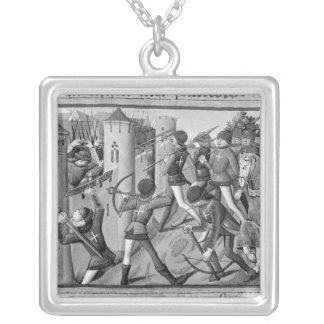 The Siege of Jargeau Silver Plated Necklace