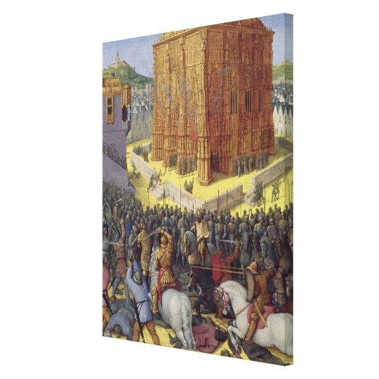 The Siege of Jerusalem by Nebuchadnezzar Canvas Print