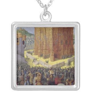 The Siege of Jerusalem by Nebuchadnezzar Silver Plated Necklace