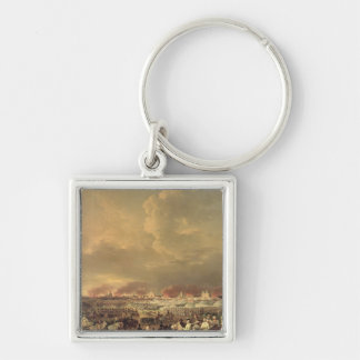 The Siege of Lille by Albert de Saxe-Tachen Silver-Colored Square Keychain
