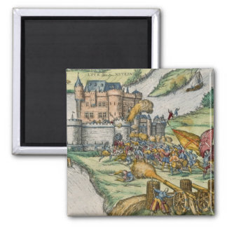 The Siege of Louvain and the Heroism of Harman Reu 2 Inch Square Magnet