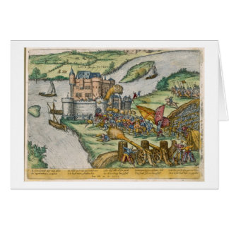 The Siege of Louvain and the Heroism of Harman Reu Greeting Card