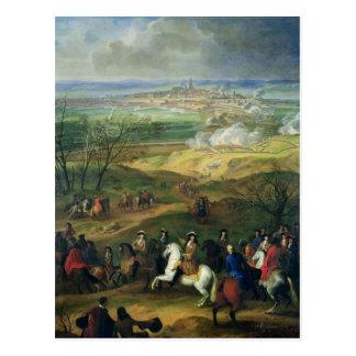 The Siege of Mons by Louis XIV  9th April 1691 Postcard