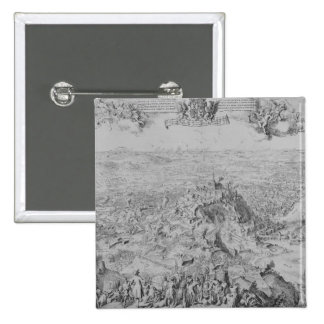 The Siege of Namur, 1695 2 Inch Square Button