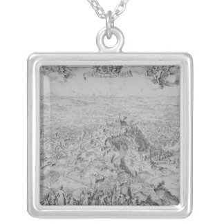 The Siege of Namur, 1695 Square Pendant Necklace