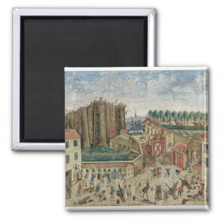 The Siege of the Bastille, 1789 2 Inch Square Magnet