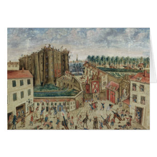 The Siege of the Bastille, 1789 Card