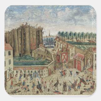 The Siege of the Bastille, 1789 Square Sticker