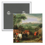 The Siege of Tournai by Louis XIV 2 Inch Square Button
