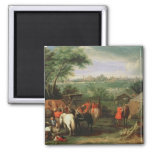The Siege of Tournai by Louis XIV 2 Inch Square Magnet