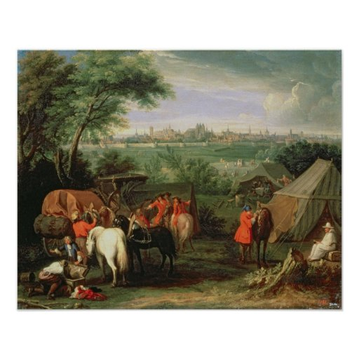 The Siege of Tournai by Louis XIV Poster