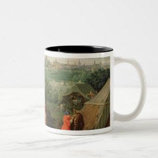 The Siege of Tournai by Louis XIV Two-Tone Coffee Mug