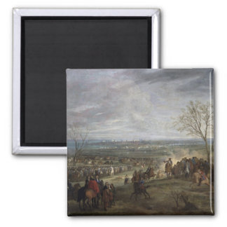 The Siege of Valenciennes, 1677 2 Inch Square Magnet