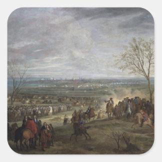 The Siege of Valenciennes, 1677 Square Sticker