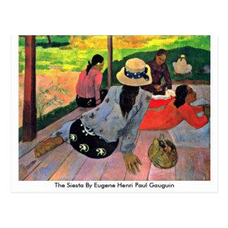 The Siesta By Eugene Henri Paul Gauguin Postcard