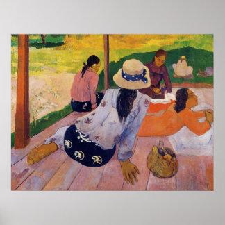 'The Siesta' - Paul Gauguin Print