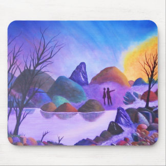 The Sighting - Alien Lights Mouse Pad
