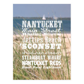 The Sights of Nantucket, Massachusetts - Postcard