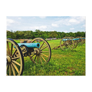 The Sights Of The Shiloh Military Park In Shiloh Canvas Print