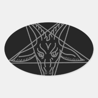 The Sigil of Baphomet Oval Sticker