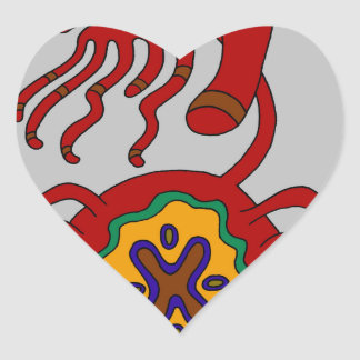 The Sigil of the Stern Embrace Heart Sticker