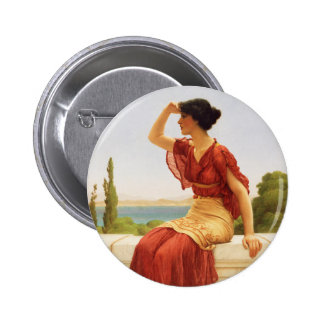 The Signal Godward Fine Art Painting Button