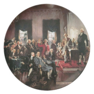 The Signing of the Constitution Melamine Plate