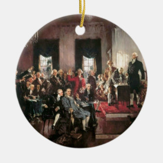The Signing of the Constitution Double-Sided Ceramic Round Christmas Ornament