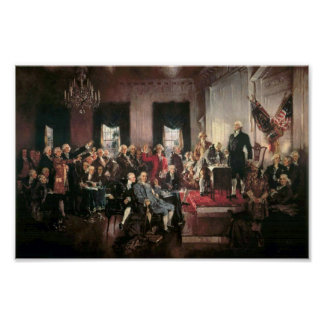 The Signing of the Constitution Poster