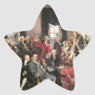 The Signing of the Constitution Star Sticker