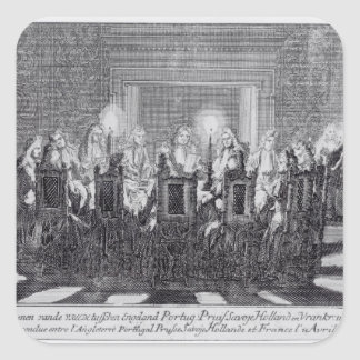 The Signing of the Treaty of Utrecht Square Sticker