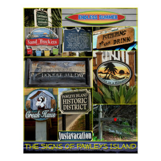 The Signs of Pawleys Island Poster